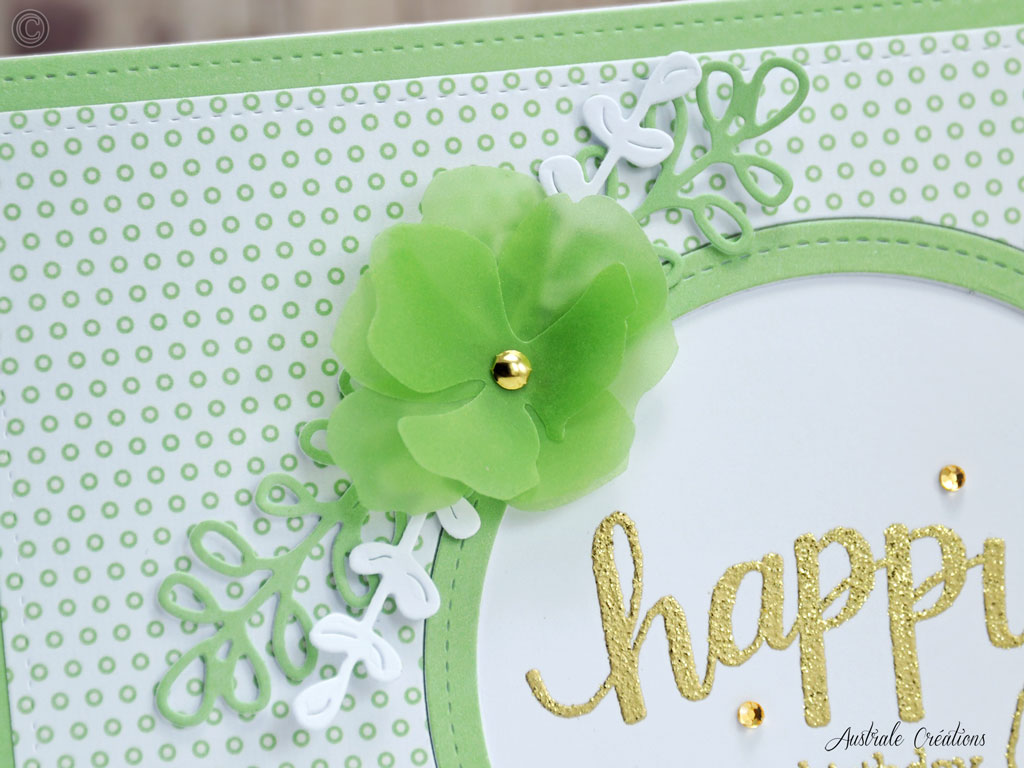 Carte Green Polka Dots
