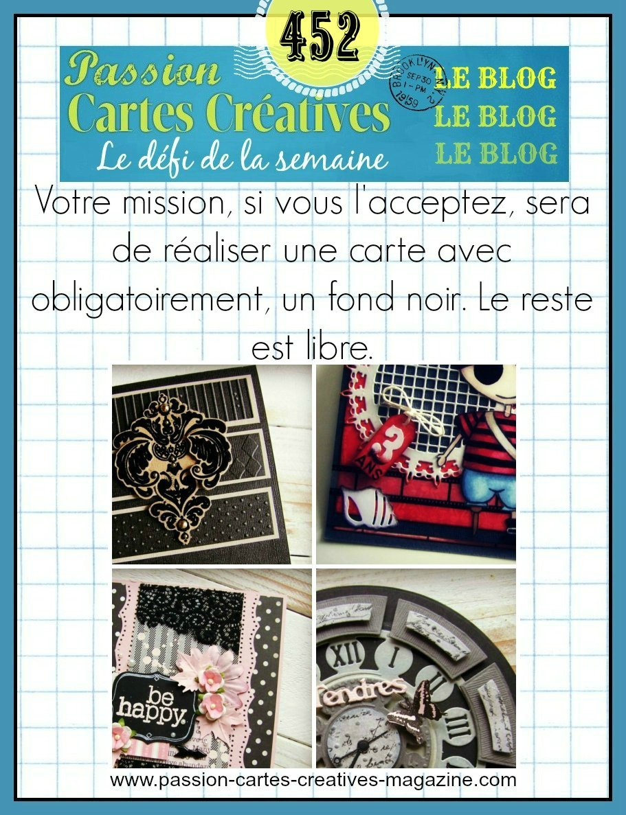 Passion Carte Creative défi 452