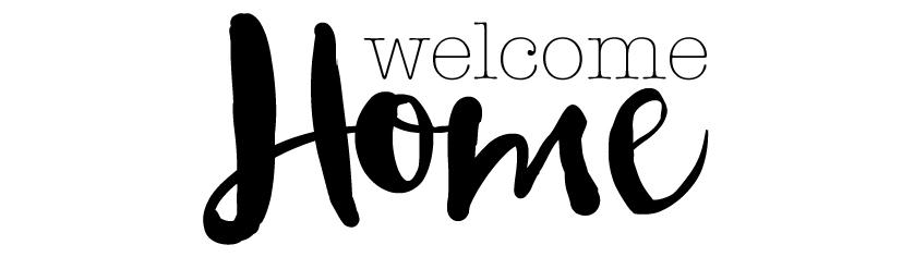 Etiquette à imprimer Welcome Home par Australe Créations