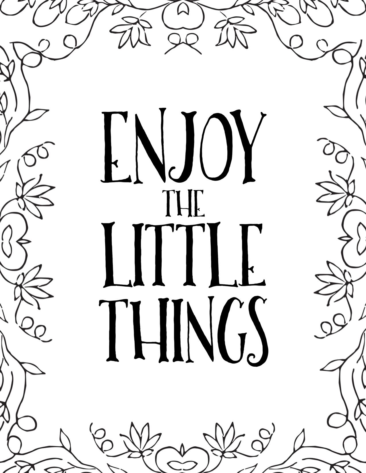 Fichier à imprimer Enjoy the Little Things par Australe Créations
