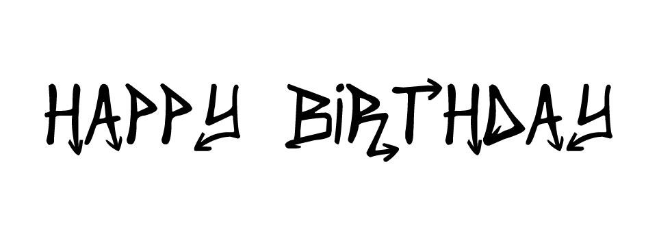Etiquette à imprimer Happy Birthday (Urban Style) par Australe Créations