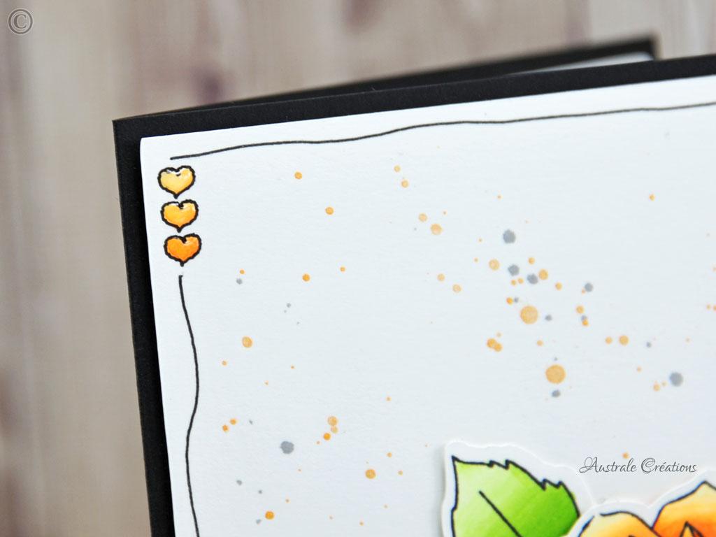 Carte Orange Dahlia