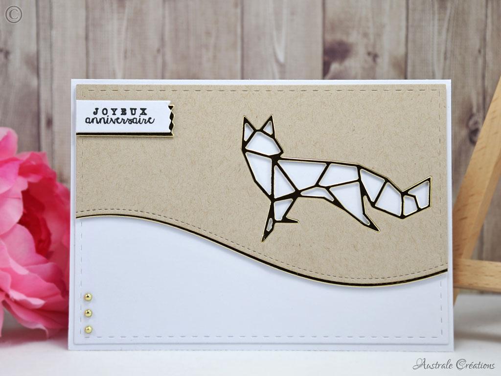Carte Origami Fox