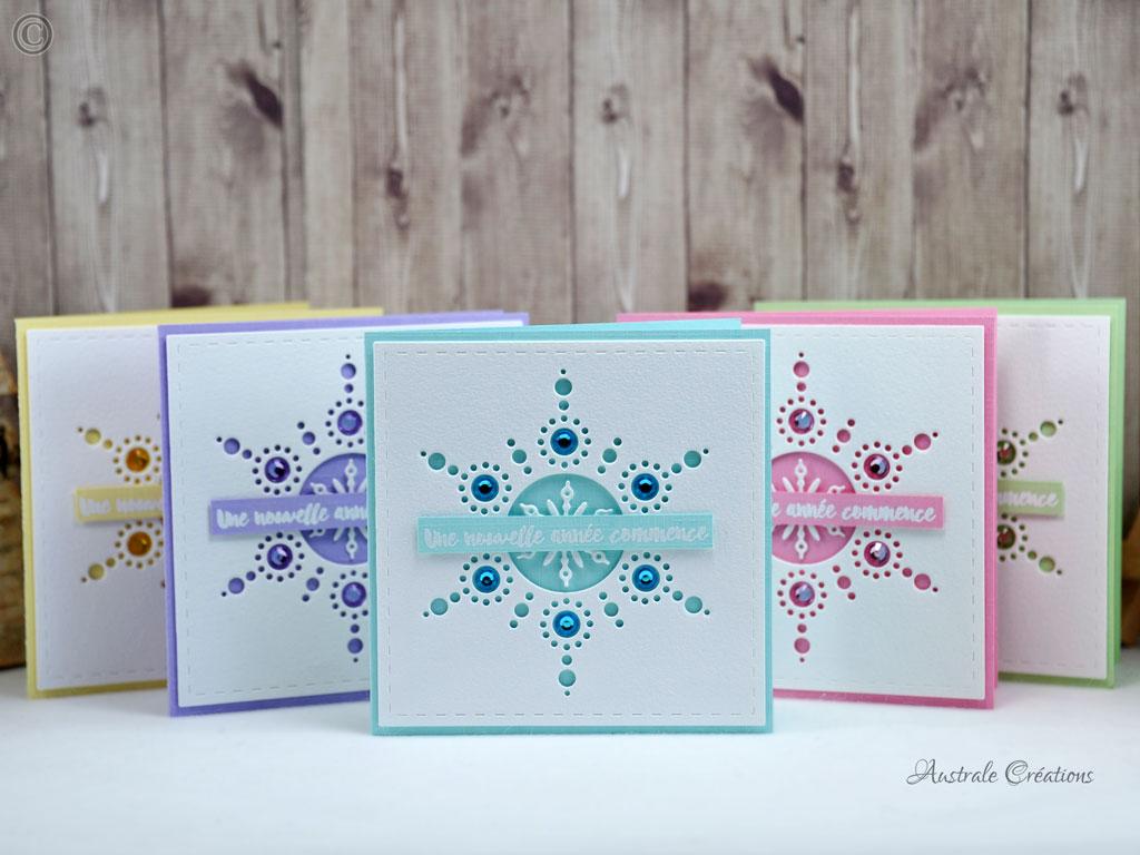 Voeux 2017 #5 : Cartes Snowflakes