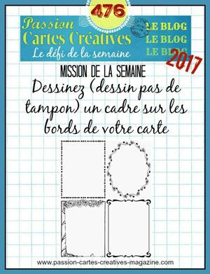 Passion Carte Créative défi 476