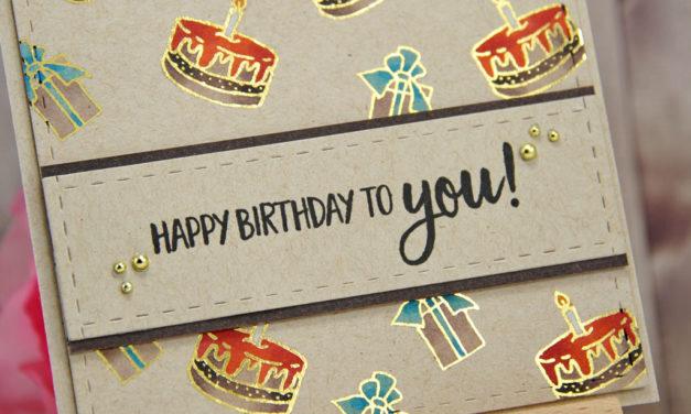Carte : Gift and Cake