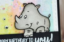 Carte : Rhino Birthday