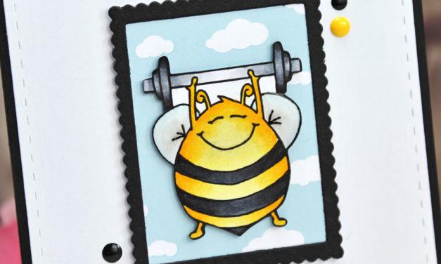 Carte : Bee Strong !