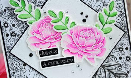 Carte : Doodle & Roses
