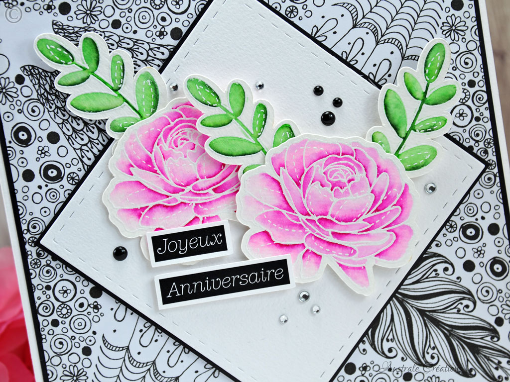 Carte Doodle and Roses