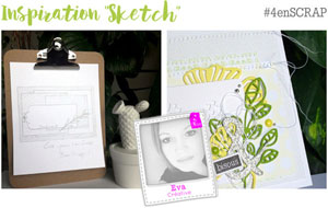 4enscrap Inspiration Sketch
