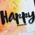 Carte Painted Birthday