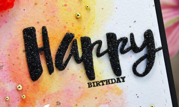 Carte : Painted Birthday