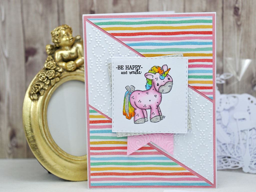 Carte Be Happy and Smile par Adeline