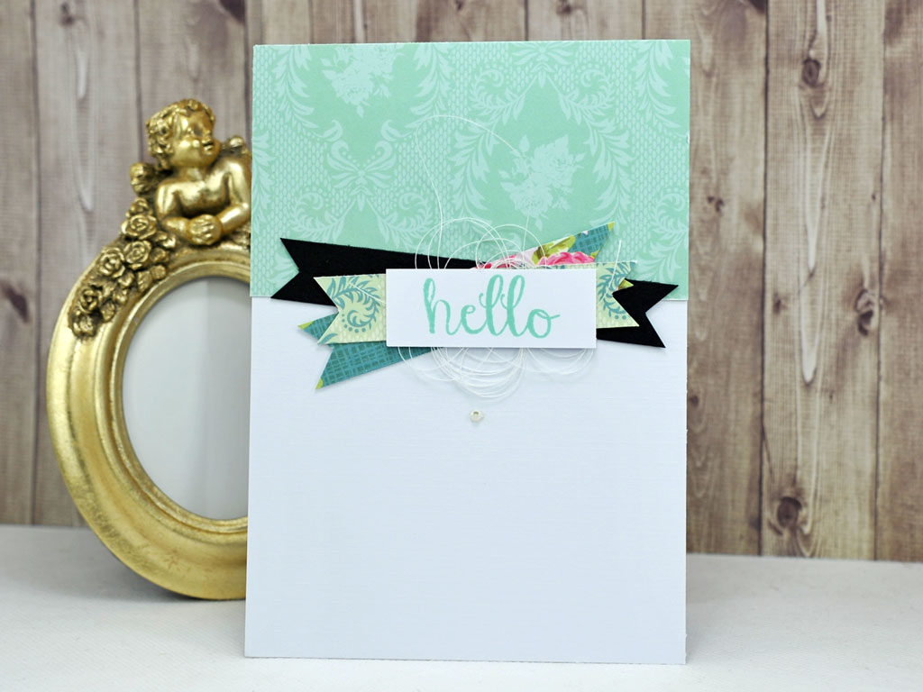 Carte Hello par Catherine