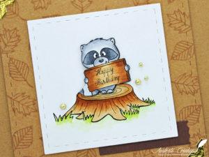 Carte Raccoon Birthday