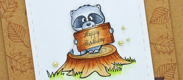 Carte : Raccoon Birthday