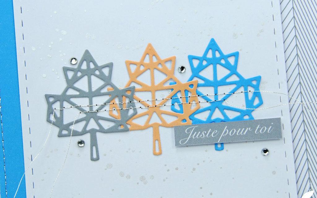 Carte : Feuilles Origami