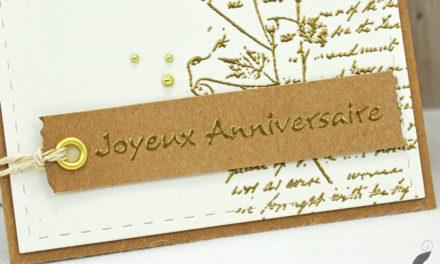 Carte : Joyeux Anniversaire