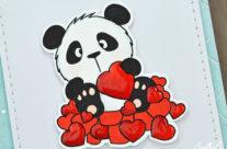 Carte et pochette cadeau  Panda in Love