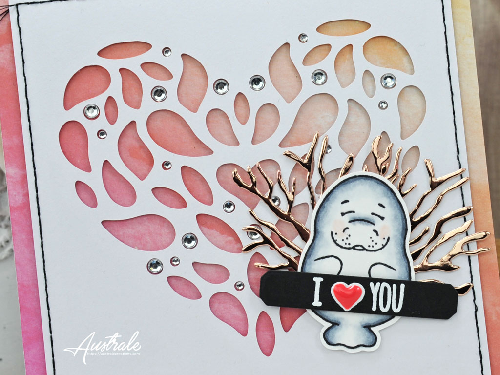 Gerda Steiner Designs Carte Love Manatee
