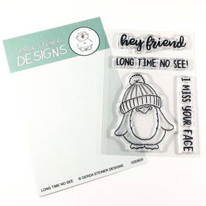 Gerda steiner design Long time no see 3x4 stamp set