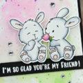 Carte Spring Bunny Friends