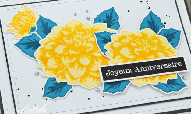 Carte : Sunshine Dahlia