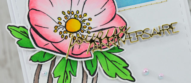 Carte : Une composition florale