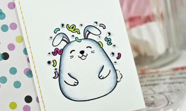 Carte : Joyeux Bunnyversaire