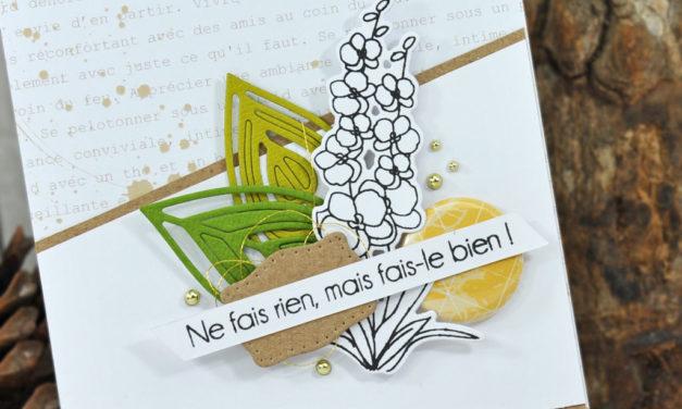 4enscrap : Les Petits Ateliers d'Automne<br>«Carte Ne fais rien mais fais-le bien»
