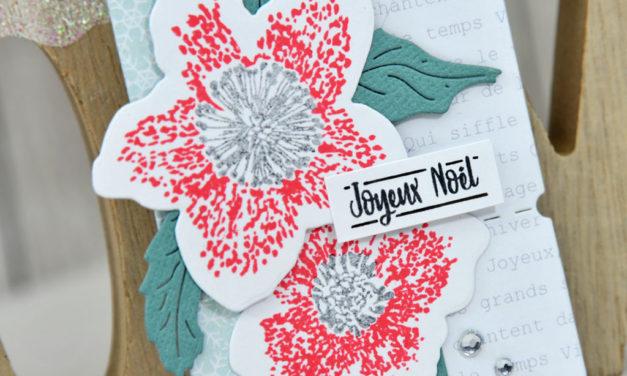 4enscrap : Les Petits Ateliers d'Hiver<br>«Etiquette cadeau Hellébore»