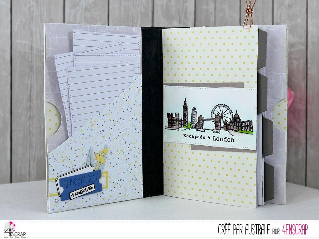 Carnet de voyage - Road Book de londres en 4enscrap