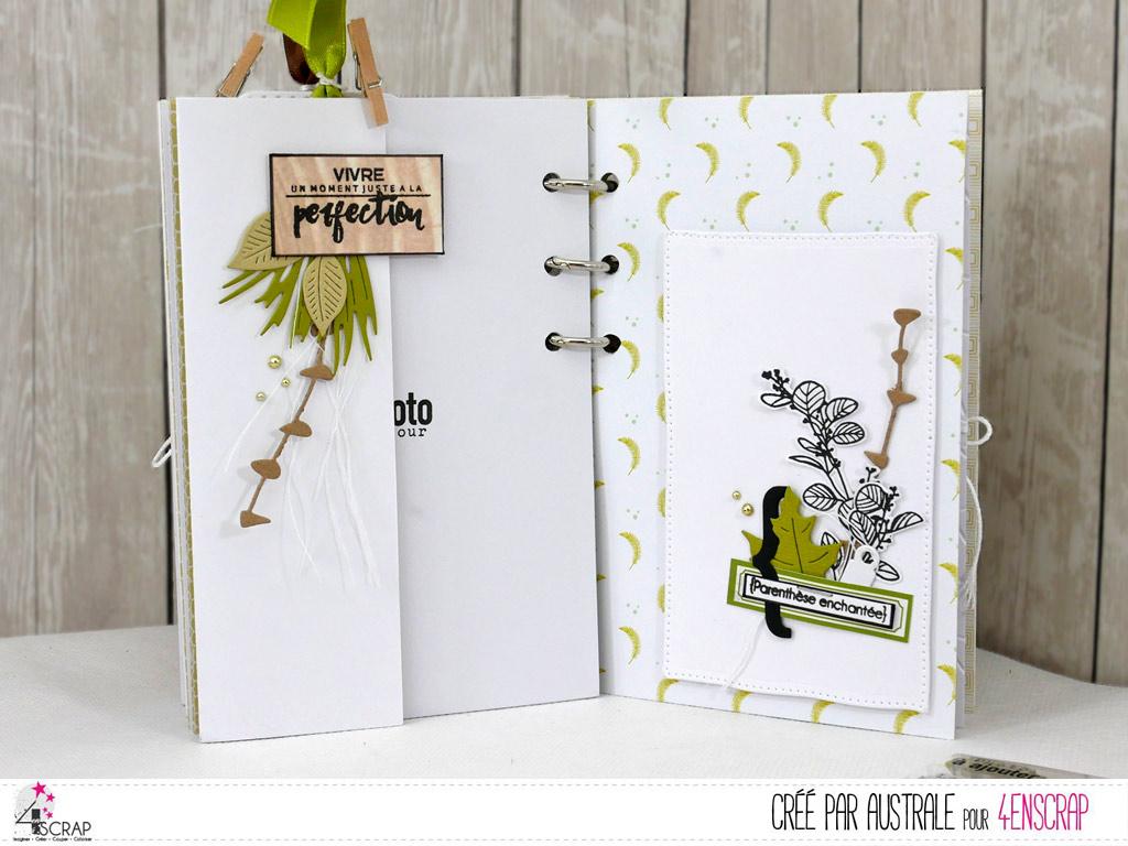 Mini album à offrir avec structure cartonnée et reliure à anneaux dans un combo et avec décorations automnales