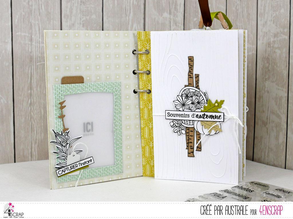 Souvenirs : Mini album automnal à offrir en 4enscrap