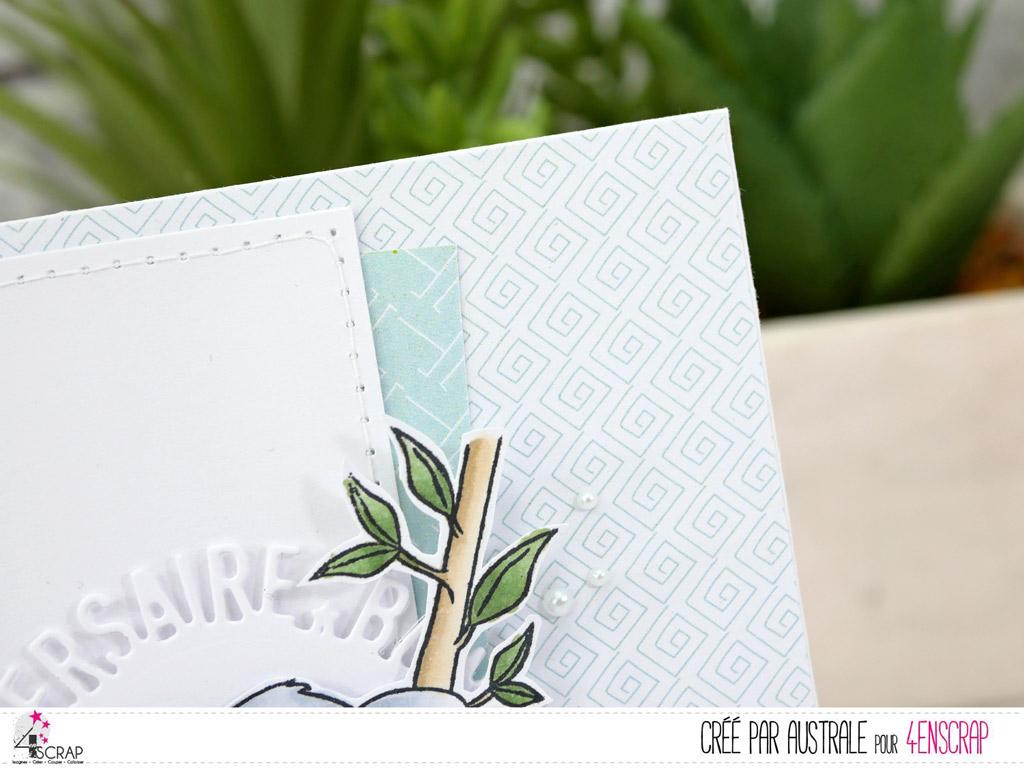 Carte à roulette pour le fête des mères en rose et vert et de jolis pivoines mis en couleurs au crayon aquarellable.