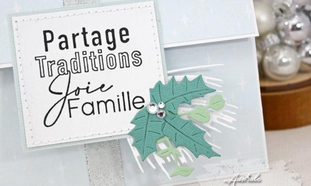 Partage et traditions : Pochette à tirette pour carte cadeau