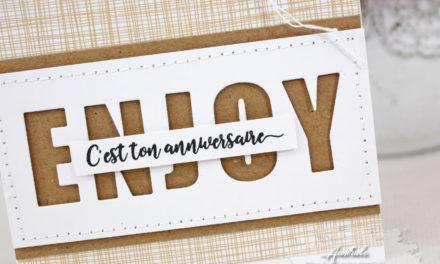 Carte : Enjoy c'est ton anniversaire