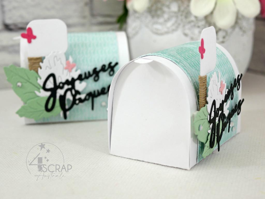 Boite en forme de boites aux lettres pour gourmandises chocolatées.