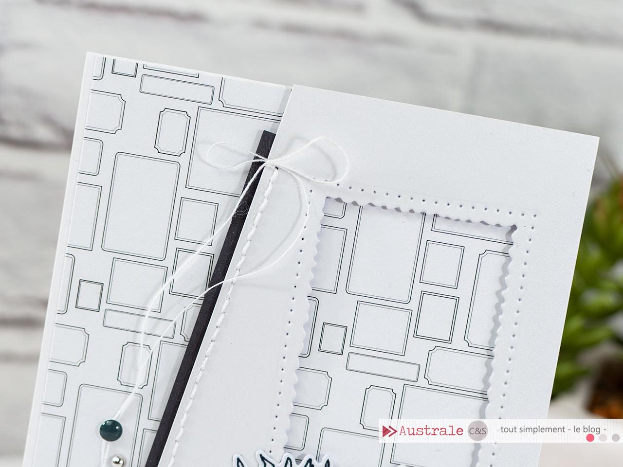 Création d'une carte sur le thème du cocooning en terrasse en dégradé de gris, monochrome