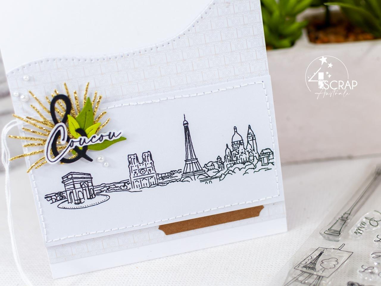Création d'un trio de cartes pour toutes occasions sur le thème des villes Londres, Paris et Rome.