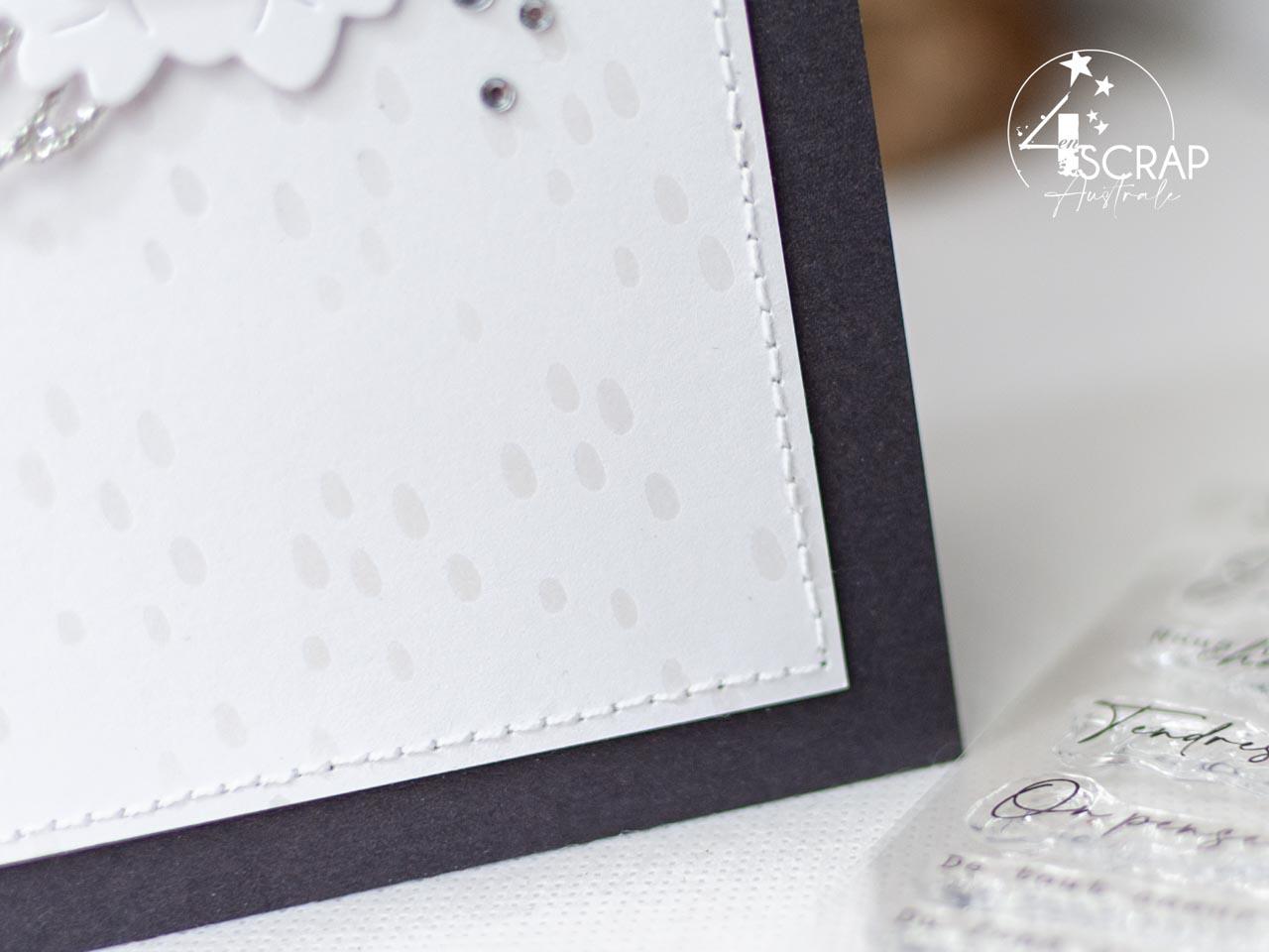 Création de cartes de condoléances sobre et élégantes avec les Dahlias et feuilles de dahlias de la collection automne 2021 de 4enscrap.